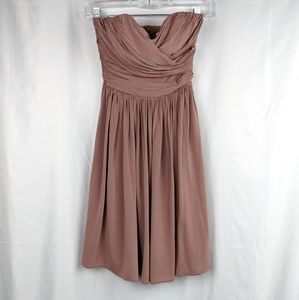 J. Crew Dusty Rose Strapless Bridesmaid Dress 0